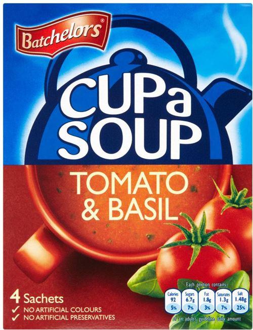 Batchelors Cup A Soup - Rich Tomato & Basil 104g