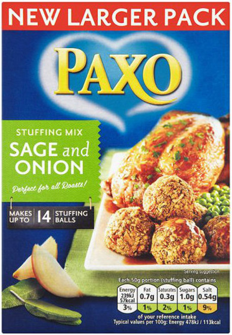 Paxo Sage & Onion Stuffing Mix 170g