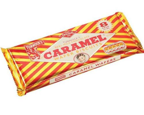 Tunnocks Caramel Wafers 8 x 30g Pack