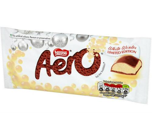 Aero White Chocolate Festive Block 100g