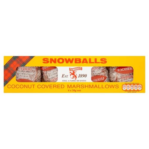 Tunnocks Snowballs 4 Pack