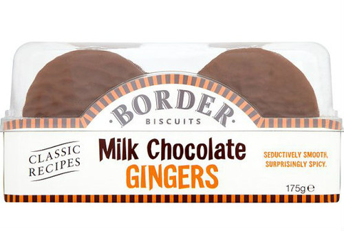 Borders Milk Chocolate Ginger Biscuits 175g