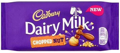 Cadbury Dairy Milk Chopped Nut - Milk Chocolate with Hazelnuts - 95g