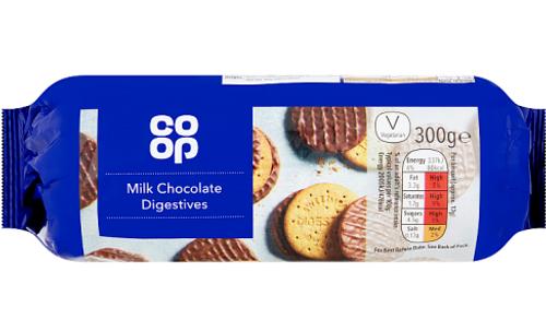 Co-op Milk Chocolate Digestive Biscuits 300g