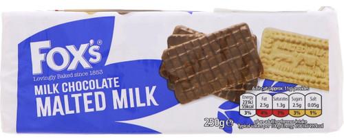 Foxs Milk Chocolate Malted Milk Biscuits 250g