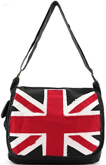 Vintage Union Jack Canvas Ladies Messenger Bag