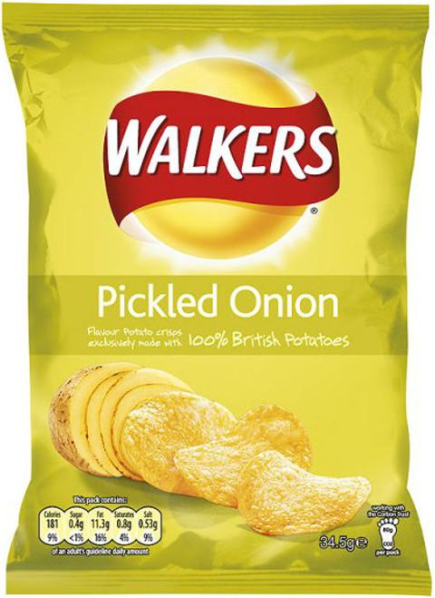 Walkers Pickled Onion Crisps 12 Pack