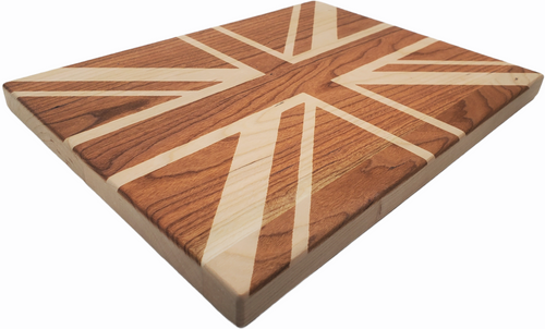Union Jack Maple Chopping Board
