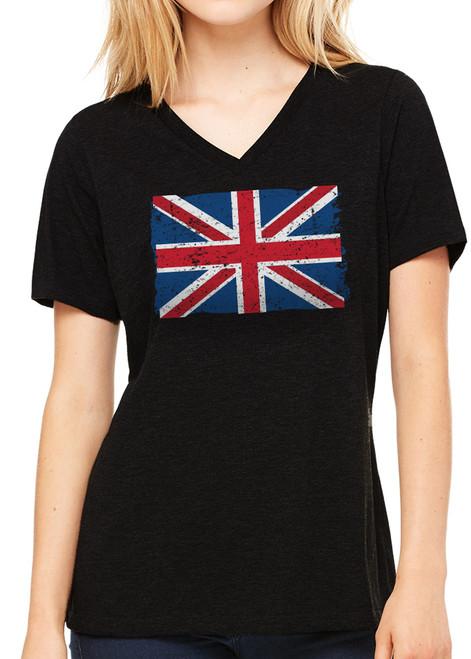 Ladies Union Jack T-Shirt - Black