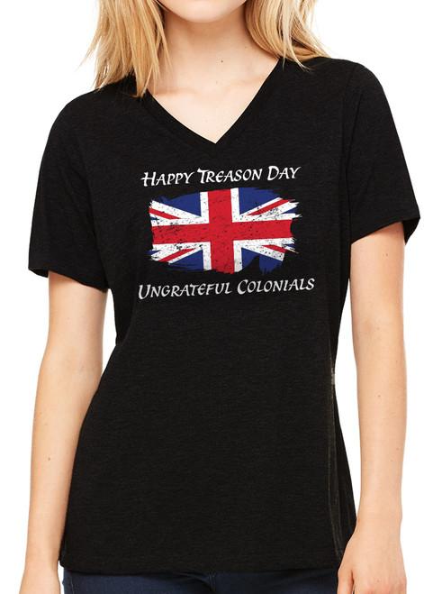 Ladies Treason Day T-Shirt - Black