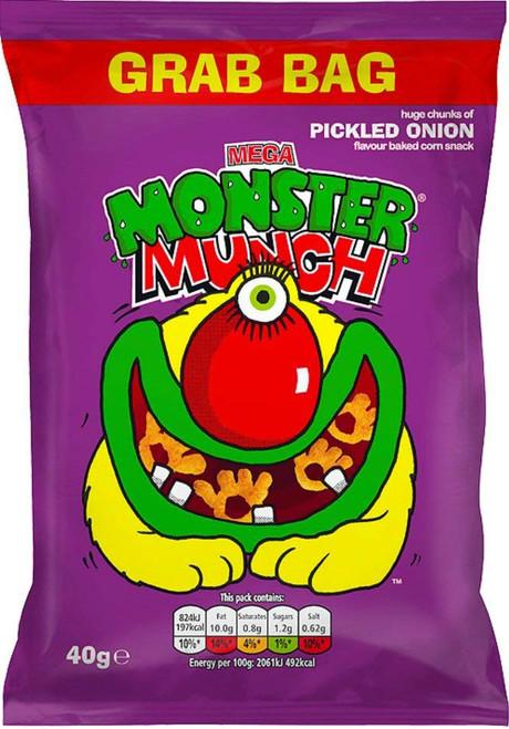 Monster Munch Big Grab Bag 40g * BEST BEFORE SEPTEMBER 18, 2021*