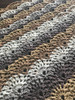 Vanilla Bean II Shawl. Hand Crocheted.