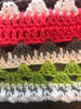 Summer Fun Hand Crochet Blanket. 62x62
