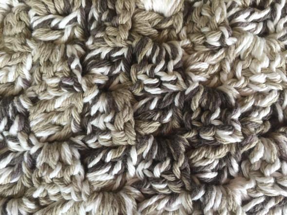 Brown, White, Cream Color Combo Mug Rugs. Hand Crocheted. 7W x 12L. 100% Cotton.