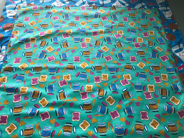 Baby Boy Dessert Flannel Receiving Blanket with Matching Burp/Wash Cloths