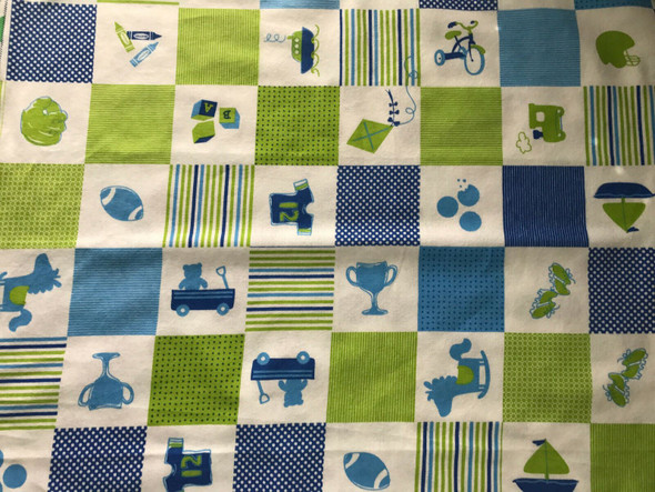 Baby Boy Baseball Flannel Receiving Blanket with Matching Burp/Wash Cloths