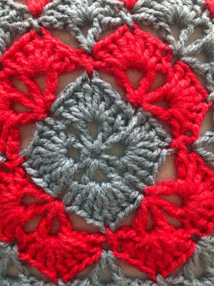 Colorful Decorative Pillows. 16X16. Hand Crocheted. 100% Acrylic Yarn.