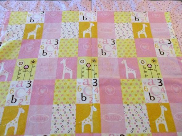 "Baby Girl Flannel Receiving Blanket 30"" x 30"" Handmade."