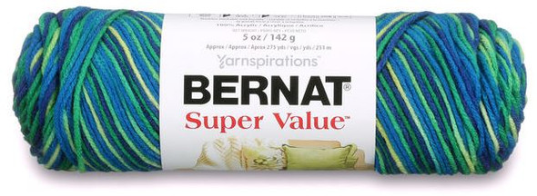 Bernat Super Value yarn is an economical, worsted weight yarn in a huge shade range. Available in solid and multi-colored shades, from brights, to neutrals, Super Value fits the needs of any knit or crochet project. Conveniently machine washable and dryable for easy care.