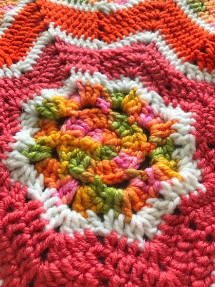 Baby Girl's 8 Point Spring Time Hand Crochet Blanket