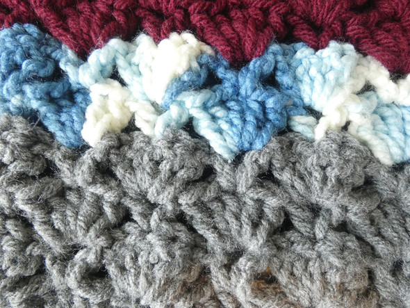 Baby Boy's Blue Calm Crocheted Blanket. 60x70