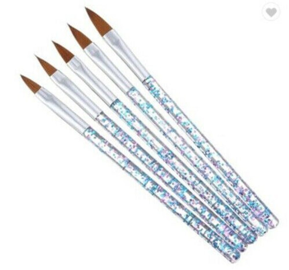 Nail Art Crystal or Acrylic Brush UV Gel Builder