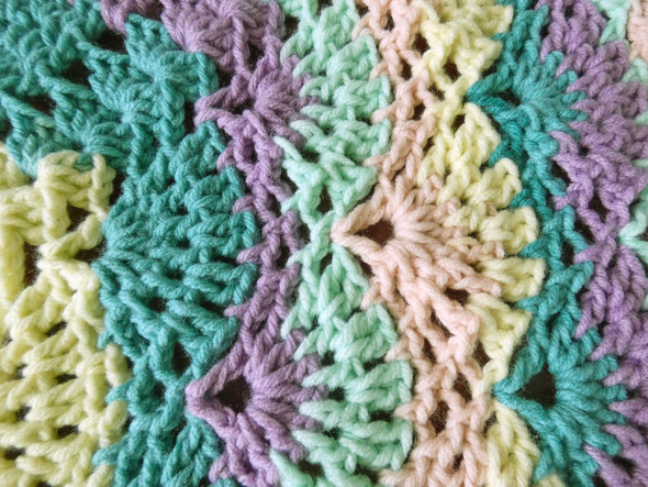 Baby Boy's Boysenberry Hand Crocheted Blanket. 52x52