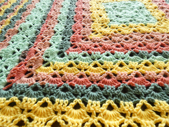 Baby Girl's Summer Berry Tart Hand Crochet Blanket