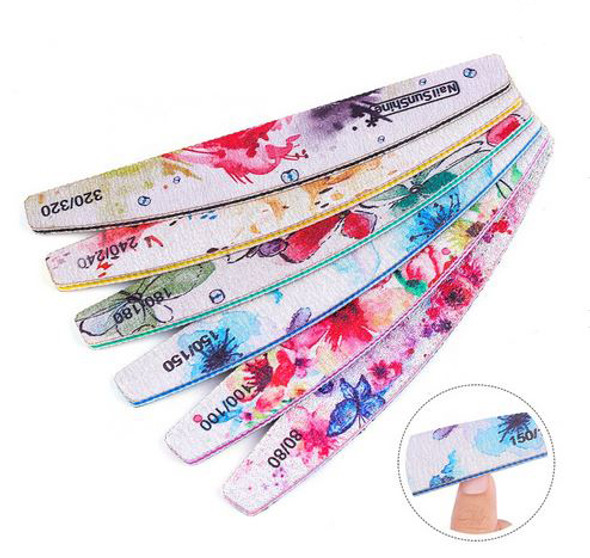 6 Piece Set Flower Desgin Manicure Files