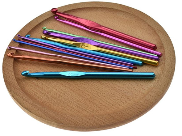 12PCS Aluminum Crochet Hook Set