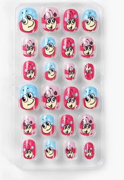 24PCS Kids Full Cover Press on Nails. Free Nail Glue.
