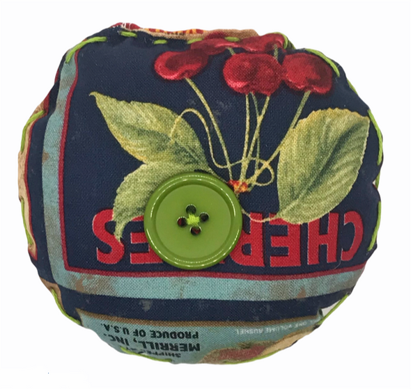 Fruit Market Style Pin Cushion. 100% Handmade.
