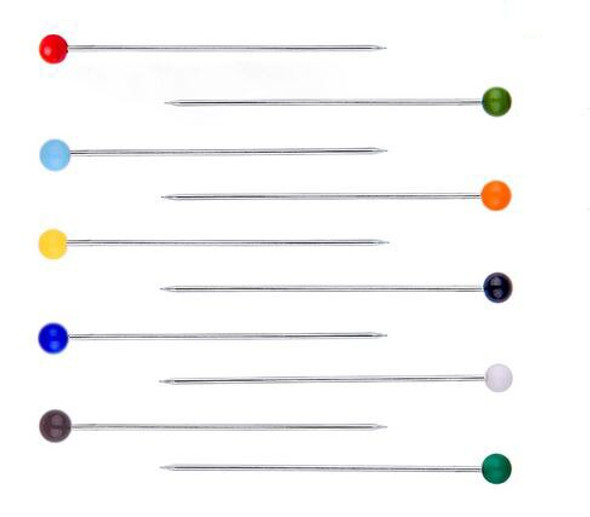 4 Boxes 100PCS Each Sewing Pins. Ball Glass Head. Black & White.