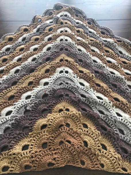 Vanilla Bean Shawl. Hand Crocheted.