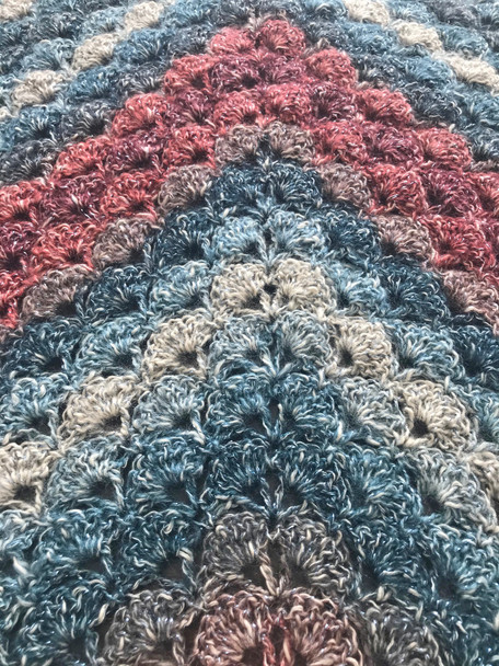 Moonstone Shawl. Hand Crocheted.