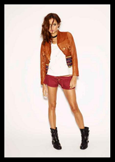 One Teaspoon Morrison Tan Leather Jacket