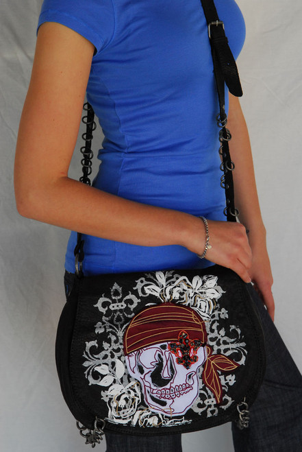 Royal Plush Skull Hobo Bag