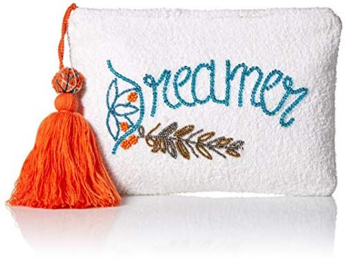 'Ale By Alessandra Women's Dreamer Plush Cotton Terry Cloth Clutch/Bikini Bag