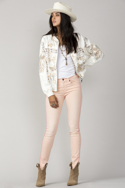 MM Vintage You Give Me Butterflies Bomber Jacket