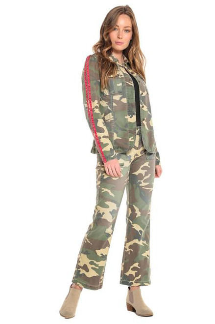 Da-Nang Tapered Military Blazer Army Camo