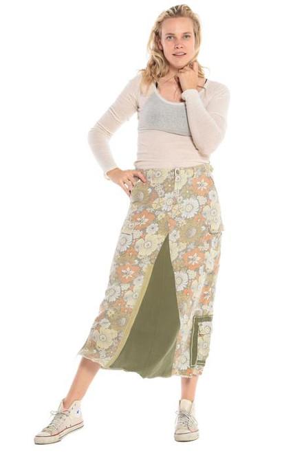 Da-Nang Original Military Maxi Skirt Flower Power