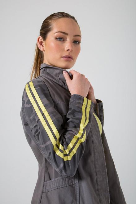 Da-Nang Tapered Military Jacket Charcoal Grey