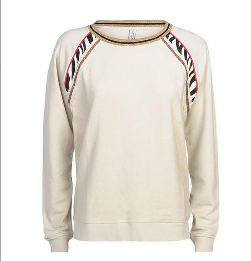 Summun Woman Sweatshirt White Sand/Zebra