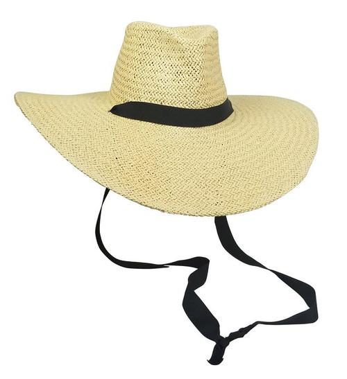 Belle Chinstrap Hat Ivory/Black