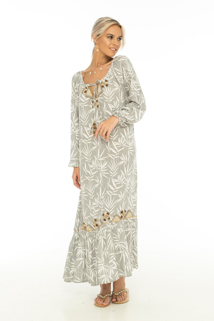 Skemo Kyoto Bali Maxi Dress Grey