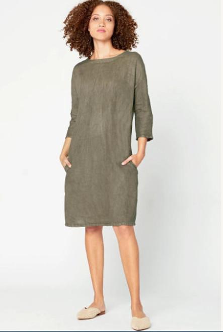 XCVI Long Line Tunic Dress Wren