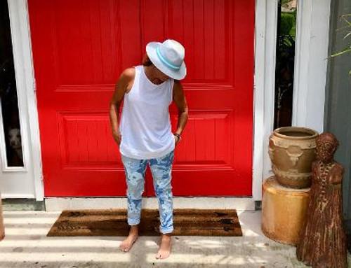 Drawstring Camo Pants Baby Blue Camo