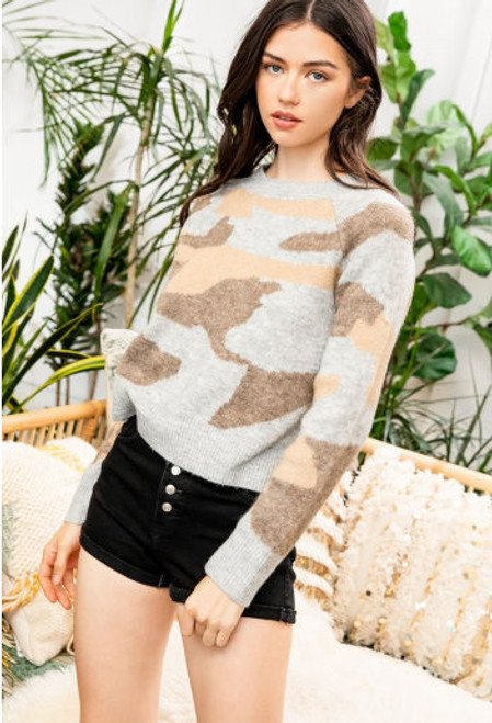 The Neutral Camo Sweater