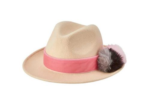 San Diego Hat Company Wool Fedora Pom Pom
