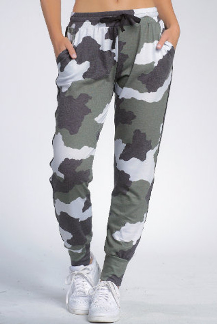 Elan Camo Jogger Side Stripe
